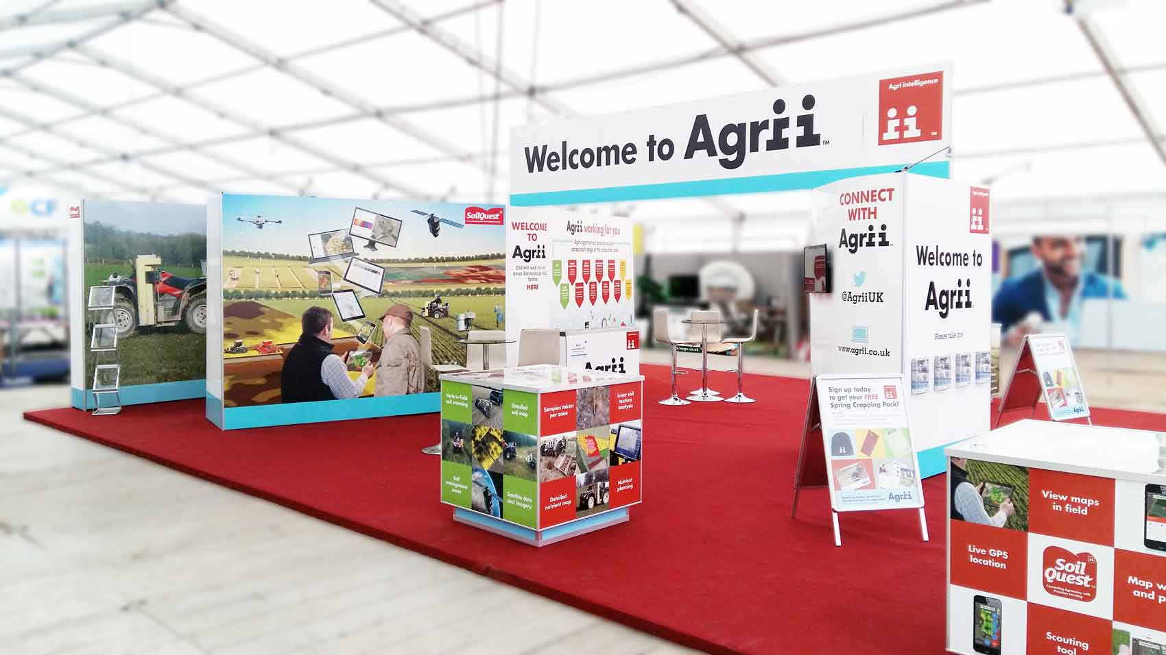 Agri at Lamma a Mobex indoor stand build