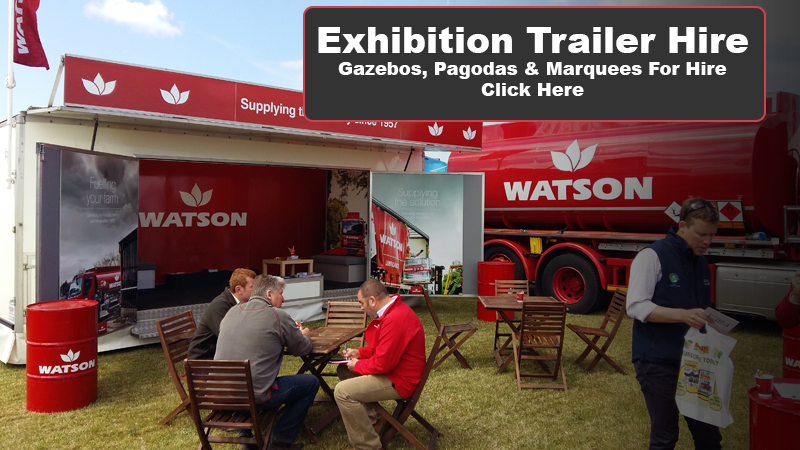 Exhibition Stand Hire Qualifications : Exhibition trailers for hire sale roadshows
